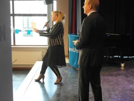 College Tour  onder leiding van NPO-journaliste Astrid de Jong